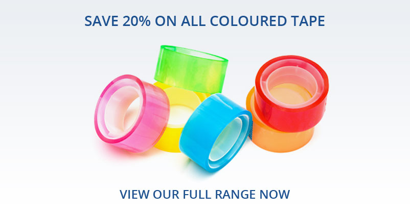 Save 20% on all coloured tape - view our full range now