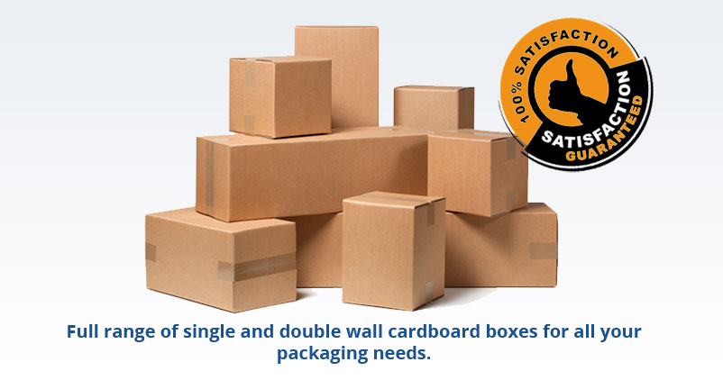 Full range of single and double wall cardboard boxes for all your packaging needs.